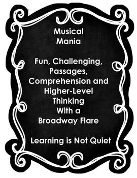 BROADWAY MUSICAL READING MANIA (A fun way to analyze 30 Mu