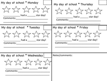 MY STAR DAY ** updated - now editable