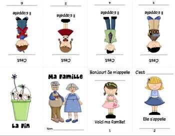 Ma Famille (Family) Mini Booklet