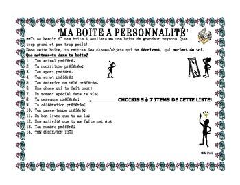 French Immersion: Ma boite à personnalité