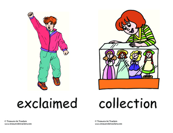 MacMillan Vocabulary Picture Cards - 2nd Grade Unit 6