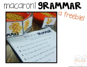 Macaroni Grammar [punctuation practice FREEBIE!]