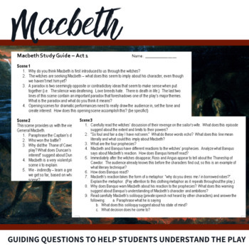 macbeth act 1 commentary Macbeth by william shakespeare - act 1, scene 4 summary and analysis.