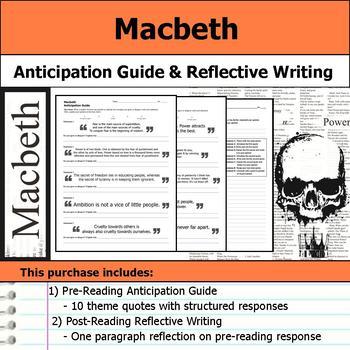 Macbeth - Anticipation Guide & Reflection