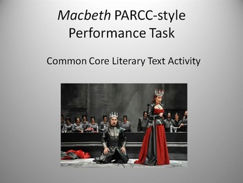 Macbeth PARCC-style Learning Task - FREE DOWNLOAD!!