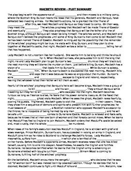 Macbeth - Plot Summary Fill in the Blanks