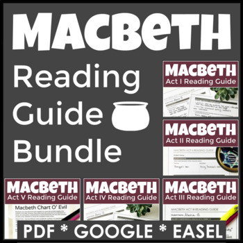 Macbeth Complete Reading Guides With 60 Pages of Highly En