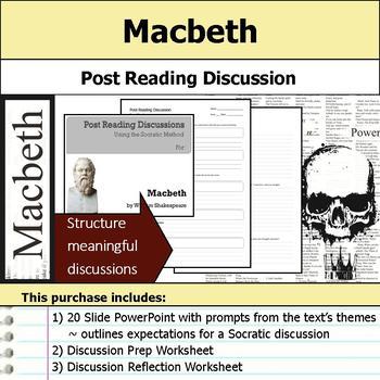 Macbeth - Socratic Method - Post Reading Discussions