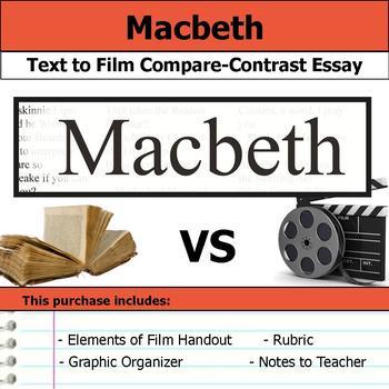 Macbeth - Text to Film Essay Bundle