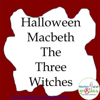 Halloween Macbeth - The Three Witches