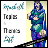 Macbeth- Topics & Themes List