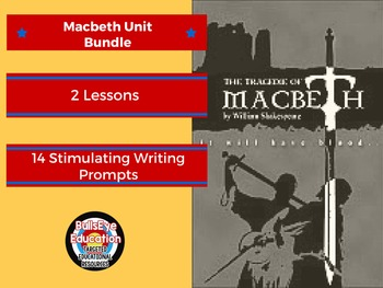 Macbeth Writing Lessons Bundle
