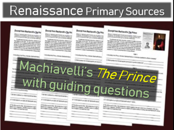 Machiavelli's The Prince Primary Source Document with guid