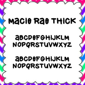 Macie Rae Thick Font {personal and commercial use; no lice