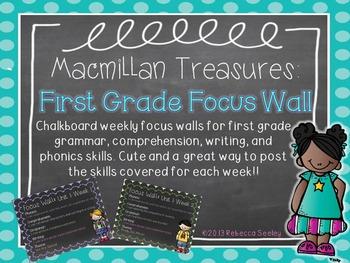 Macmillan Treasures: Chalkboard Weekly Focus Wall