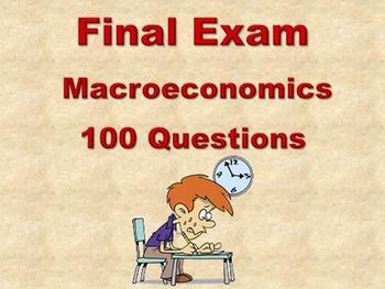 Macroeconomics (AP) - Final Exam