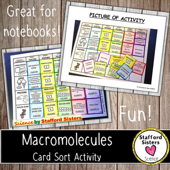 Macromolecule Card Sort Activity