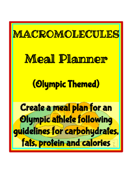 Macromolecules - Meal Planner (Olympic Themed)