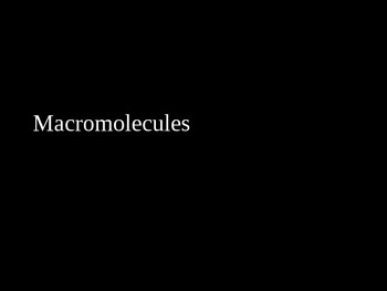 Macromolecules PowerPoint Lecture Presentation