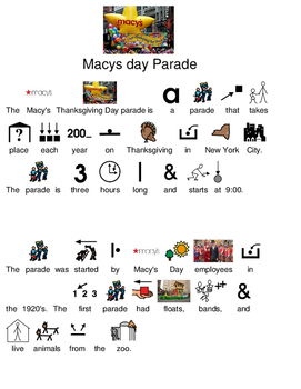 Macy's Thanksgiving Day Parade - picture supported text le