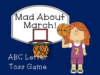 Mad About March ABC Letter Toss Game