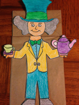 Mad Hatter Puppet (Oct 6 Mad Hatter Day)