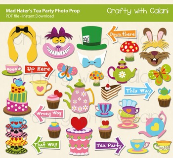 Mad Hatter's Tea Party Photo Prop, Alice in Wonderland Pho