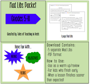 Mad Libs Packet