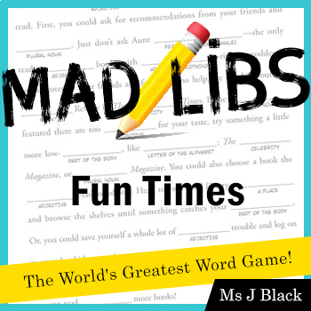 Mad Libs: Fun Practice with Parts of Speech; Pack of 4 Activities