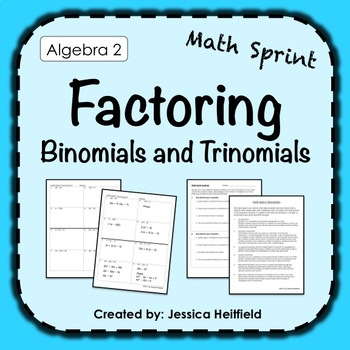 Mad Math Minute: Factoring