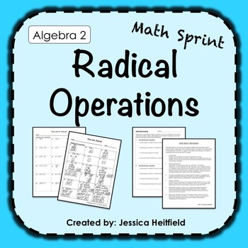 Mad Math Minute: Radical Properties and Operations