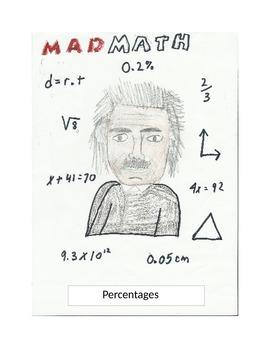 Mad Math percentage sheet