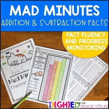Mad Minutes: Addition and Subtraction Fact Fluency and Pro