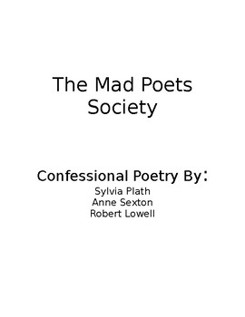 Mad Poets Society Confessional Poetry