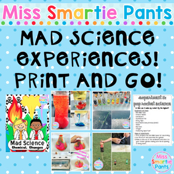 Mad Science Experiments! Print & GO!
