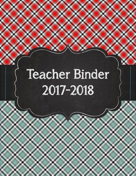 Mad about Plaid Tartan Teacher Binder Red, Blue, and Gray