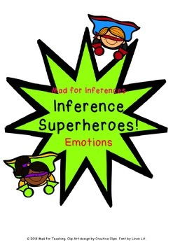 Mad for Inferences Superheroes Emotions Game