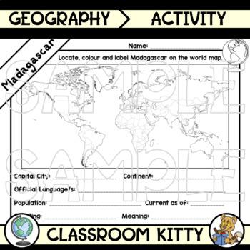 Madagascar Fact File Worksheet