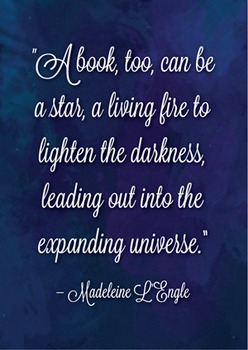 Madeleine L'Engle Quote Poster
