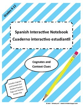 Maestra In Middle Spanish Interactive Notebook Cognates an
