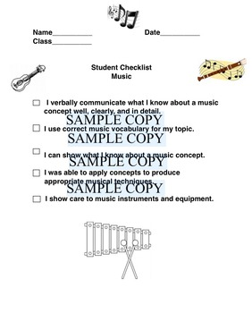 MaestroLeopold's Student Checklist for Music Assignments