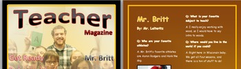 Magazine Cover & Interview *Desktop Publishing*