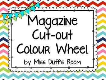 Magazine Cut-out Colour Wheel - Back to School Art Activity