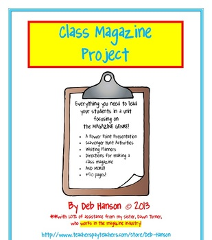 Magazine Writing Activity BUNDLE: Work in teams to create