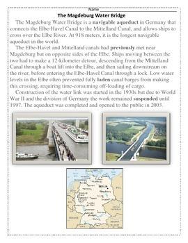 Magdeburg Water Bridge reading