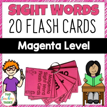 Magenta Level High Frequency Sight Word Flash Cards for Ye