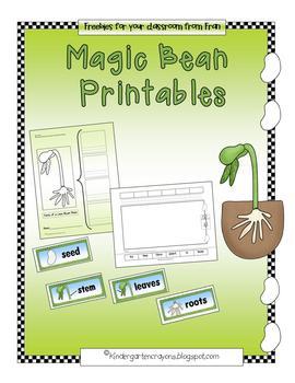 Magic Bean Printables (Lima Bean Fun)