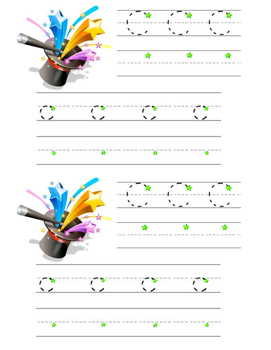 Magic C Tracing Practice Page