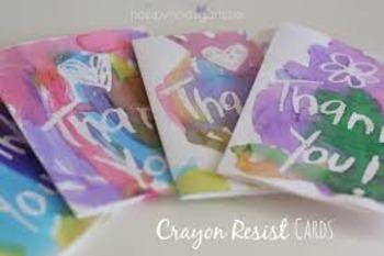 Magic Crayon Resist Cards