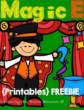 CVCE Words - Printables {Magic E} FREEBIE
